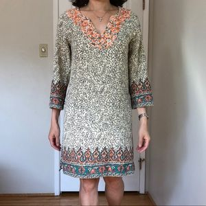 Lucky Brand Boho Embroidered Dress Size S